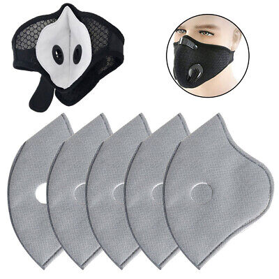 100X PM2.5 Activated Carbon Filter 5 Layer Replaceable For Face Mask Cover Safe Accessories