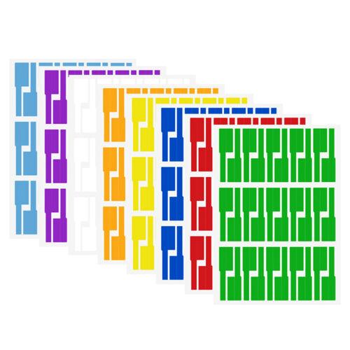 8 Farben Set Wasserdicht Kabelbeschriftung Aufkleber Kennzeichnung Etikett DE