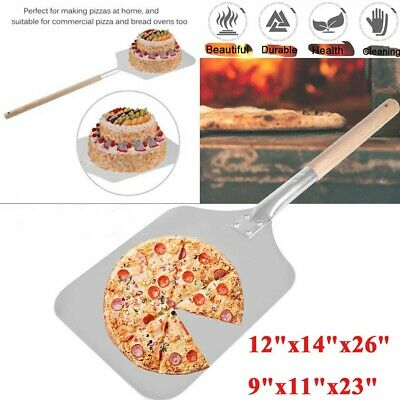 23''- 26'' Bakers Pizza Spatula Peel Shovel Cake Plate Holder Cookie Aluminium Aluminium Pizza Peel