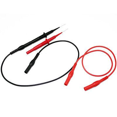 Aidetek Sharp Stainless Needle Test Leads 4multimeter 600v 1a4mm Socket 4fluke R