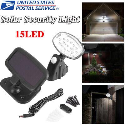 15 LED Solar Panel Sensor Shed Light Motion Outdoor Security Detector Floodlight