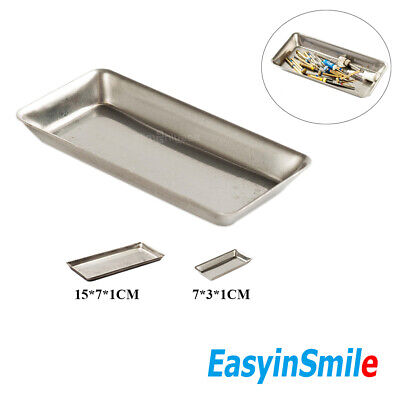 Easyinsmile Dental Instrument Tray Stainless Steel Surgical Dish Sterilization