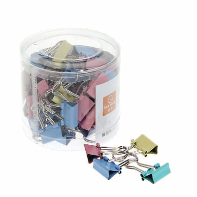 60pcs 15mm Common Mini Cute Binder Clips Metal Paper Stationary Office Material