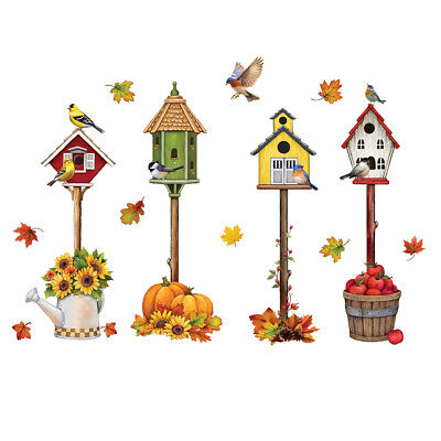 Fall Accents (Fall Accents Garage Door Magnet with Birdhouses, Outdoor Décor )