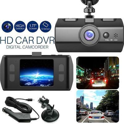2.2'' Dual Lens GPS Car DVR 1080P Dash Cam Video Recorder Vision Night 1080P