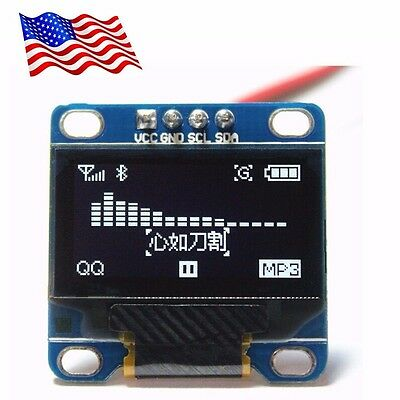 Diymall 0.96 Inch Serial 128x64 Oled Lcd Led White Display Module For Arduino