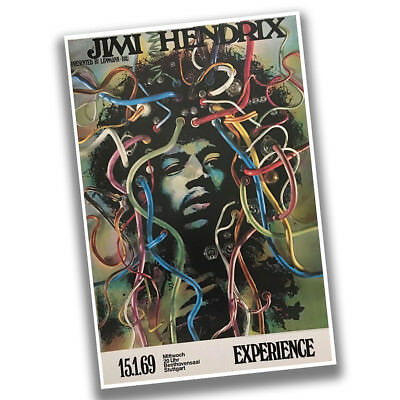 15 Poster Print - Jimi Hendrix Experience January 15th 1969 Reproduction Concert Poster