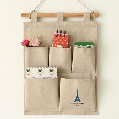 Organisator Lagerung Tasche (5 Taschen Wandbehang Beutel Beutel Organisator Aufhänger Lagerung Tidy Orga P7U3)