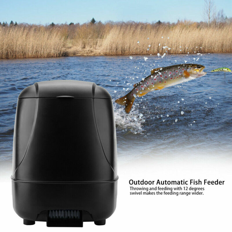 Outdoor Automatic Fish Feeder Fish Feeding Dispenser Timer for Pond Aquarium