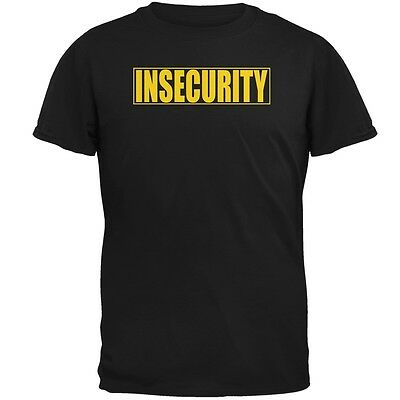Costume Black Adult T-shirt - Insecure Security Guard Funny Costume Black Adult T-Shirt