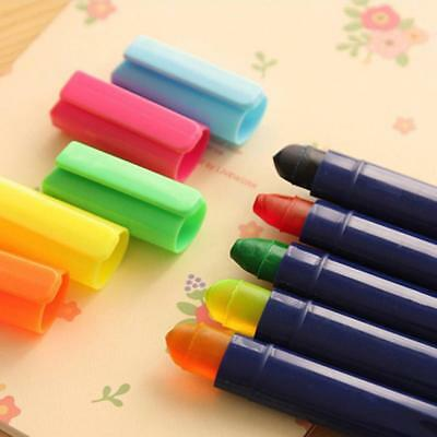 1xgel Solid Highlighter Stick New Trend Twist Up Pen Assorted Colors Set Hot