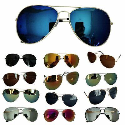Metallrahmen Verspiegelt Farbe Objektiv Aviator Sonnenbrille Pilotenbrille UV400