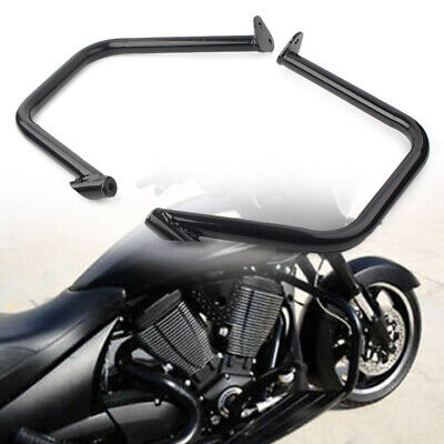 Bagger Engine Guard Crash Bars For Victory Cross Country Roads Magnum Black New