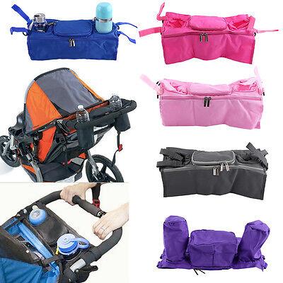 Baby Pram Stroller Pushchair Buggy Holder Storage Bag Cup Bottle Drink Organizer
