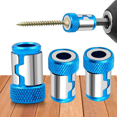2pcs Magnetic Ring Metal Destornillador Acero Cabeza Manga Eléctrico Puntas de