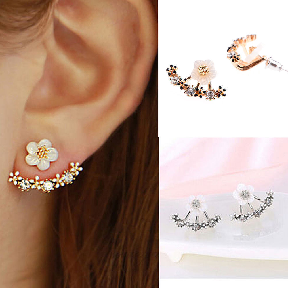 Jewellery - Women Elegant Crystal Rhinestone Ear Stud Daisy Flower Earrings Fashion Jewelry