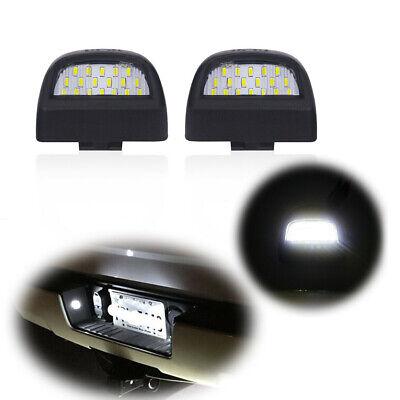 For Silverado GMC Sierra 1500 2500 3500 Full White LED License Plate Light Kit
