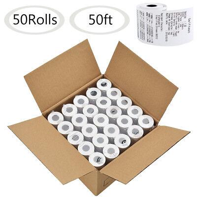 50 Rolls 2 14 X 50 Thermal Paper Cash Register Pos Receipt Paper Vx520 Ict220