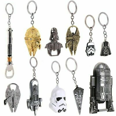 Star Wars Spaceship Metal Car Falcon Keychain Keyrings Collection Keychains Gift (Star Keychain)