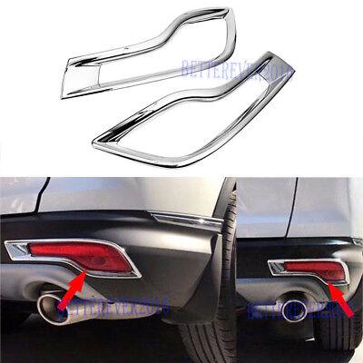 Chrome Fog Light Trim - Chrome Rear Bumper Fog Light Cover Trim Decoration fit 2017 2018 Honda CR-V CRV