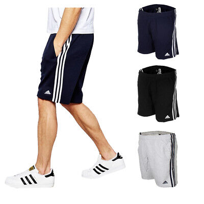 Adidas Men's Essential Logo Shorts Athletic Gym French Terry Joggers Active Wear Activewear