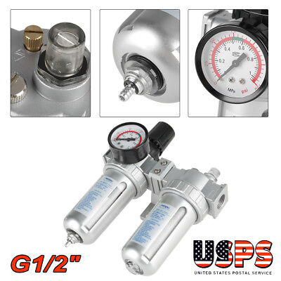 New G12 Air Compressor Filter Oil Water Separator Trap Tools Regulator Gauge