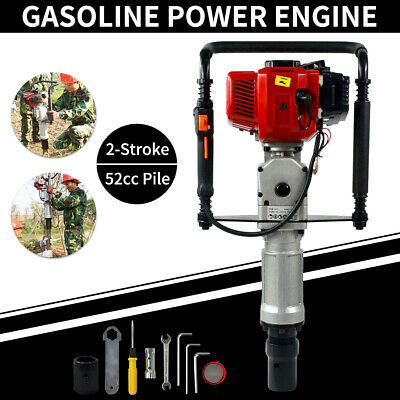 Gasoline Gas Powered 2stroke 52cc Pile Driver Engine Post Driving Head 5570mm