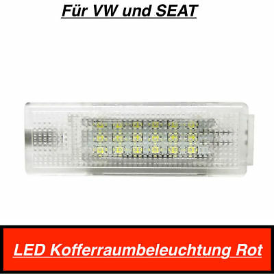 1x Top 18 SMD LED MODUL Kofferraumbeleuchtung Für VW und SEAT Rot (406)