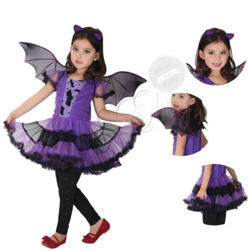 halloween girls fancy dress up costume outfits ballerina bat kids child clothesusd 939