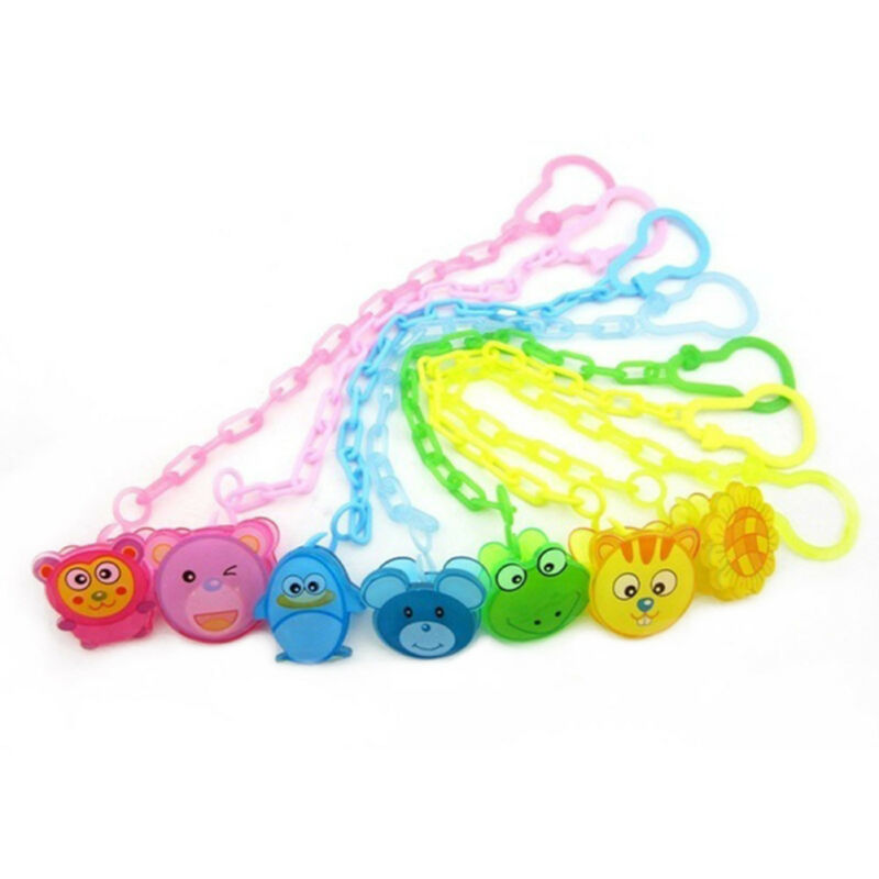Dummy Clip Baby Soother Clips Chain Holder Pacifier Strap Many Colours Baby