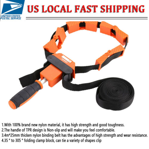 NEW Strap Band Corner Clamp Wood Woodworking Variable Angle