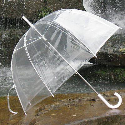 New Bubble Dome Shaped Clear See-through Rain Umbrella No Trim
