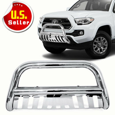 For 05-15 Toyota Tacoma Stainless Bull Bar Brush Push Front Bumper Grill Guard