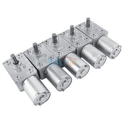 12v Dc Metal Gear High Torque Turbine Turbo Worm Geared Reduction Motor 2-100rpm