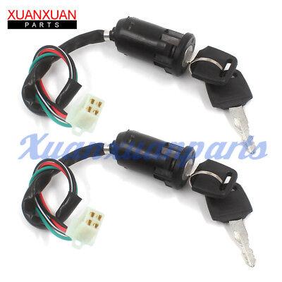 2 Set Ignition Key Switch For Chinese Quad ATV 50cc 70cc 90cc 110cc 125cc (Chinese Atvs)