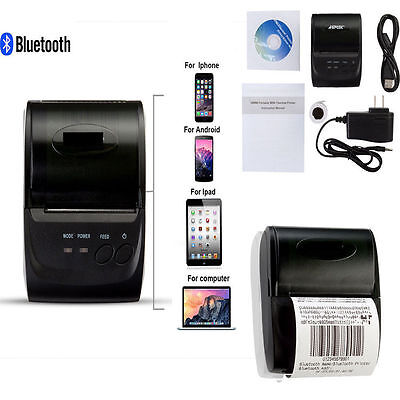 Bluetooth Wireless Pocket Mobile Thermal Receipt Printer For Android Ios 58mm Bp