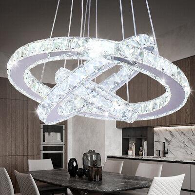 LED Chandelier Crystal Pendant Light Fixture Rings Ceiling Light for Dining Room Dining Room Lighting