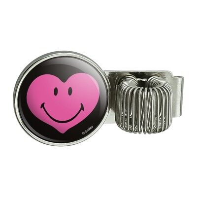 Smiley Happy Pink Heart Love Romantic Pen Holder Clip For Planner Journal Book