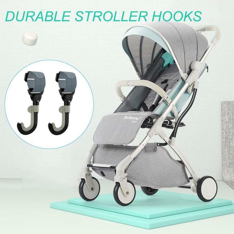 2Pcs//lot universal baby stroller hooks pram pushchair stroller carriage hook B/>w