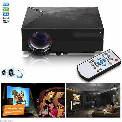 7000 Lumens 1080P HD 3D LED Projector Home Cinema Bluetooth WIFI HDMI USB VGA WN
