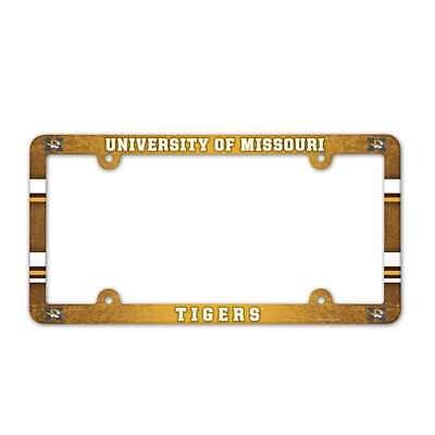 Missouri Frame - Missouri Tigers Plastic License Plate Frame