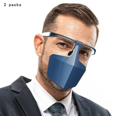 2PCS Reusable Anti-Saliva Isolation Face Protective Shield Cover Mouth Mask USA Clothing