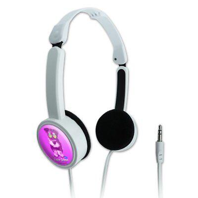 Peace Schnau Schnauzer Puppy Dog Retro Portable Foldable On-Ear Headphones