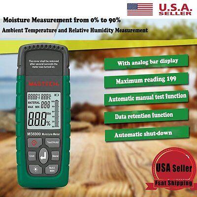 Mastech Ms6900 Digital Wood Moisture Meter Humidity Tester Timber Damp Detector