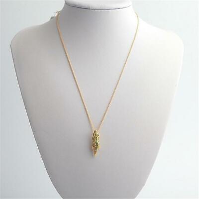 Kate Spade New York Swamped Pave Alligator Mini Pendant Necklace