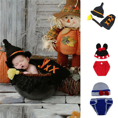 Costume For Baby Boy (Photography Props Santa Pumpkin Police Cosplay Crochet Costume for Baby Boy)