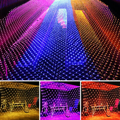 6M*4M 880LED Net Mesh Fairy String Lights XMAS Wedding Party Decor Outdoor Cute ()