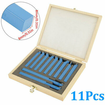 11 Pcs 38in Carbide Tip Tipped Cutter Tool Bit Cutting Set Metal Lathe Tooling