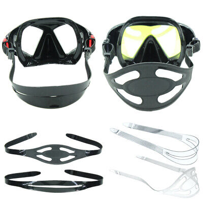 Durable Silicone Scuba Diving Mask Strap Cover Snorkeling Freediving Hair Protec Masks