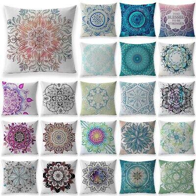 Bohemian Mandala Throw Pillow Case Meditation Floor Cushion